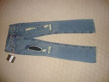 "CRAZY COOL, SUPER RARE $317 ""DESTROYED"" TRUE RELIGION JEANS (NWT) SIZE 25"