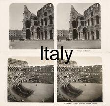 18 STEREOFOTOS ITALIEN ITALY ROM VENICE NAPLES FLORENZ Lot 8