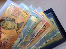 ALBUM SET 24KT GOLD LIMITED EDITION COLOURED AUSTRALIAN POLYMER BANK NOTE SET