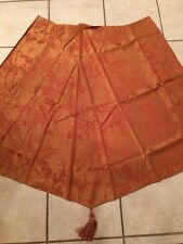 JC Penny Tropical Jaquard Waterfall Valance Red Gold Tassel