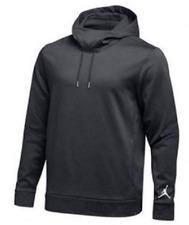 NWT Nike Men's Air Jordan Jumpman Therma Fit Fleece Pullover Hoodie LARGE Grey