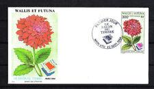 Wallis et Futuna  enveloppe 1er jour PA   salon du timbre  Dahlia fleur 1994