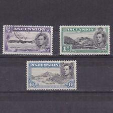 ASCENSION ISLAND 1938, SG# 38-43, CV £63, nature, part set, MH/Used