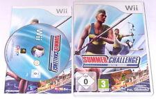 "Nintendo WII Gioco ""SUMMER Challenge Athletics Tournament"" COMPLETO"
