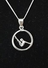 Gymnastics Necklace 925 Sterling Silver