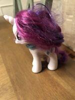 "RARITY UNICORN My Little Pony 6"" Figure Hasbro 2010 MLP 3 Blue Diamonds (S1)!"