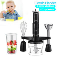 600W Hand Blender Stick immersion Mixer Variable Speed Food Processor Kitchen