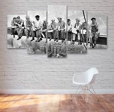 Lunch Atop A Skyscraper 5 Panel Canvas, Wall Art, Picture, Multi Panel, #008