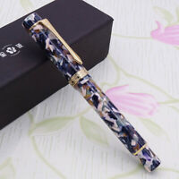 LIY Marble Resin Acrylic Fountain Pen Schmidt Nib & Converter F Gift Box-Muchun
