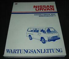 Werkstatthandbuch Nissan Urvan Typ E24 Wartungsanleitung Stand 1989!