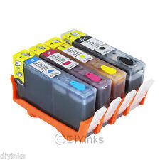 4pk Refillable Ink Cartridge SET for HP 564/564XL Deskjet 3520 3526 3521 3522 4c