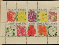 ARUBA 2011 SERIE ++ FLOWERS FLEUR BLOEMEN  ++  MNH POSTFRIS **