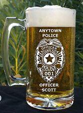 Custom Sheriff, Police, Fire, EMS Beer Mug Gift Keepsake