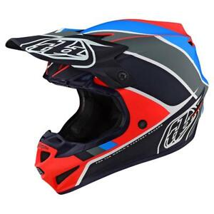 Troy Lee Designs 2020 SE4 Polyacrylite Helmet Beta Orange/Navy All Sizes