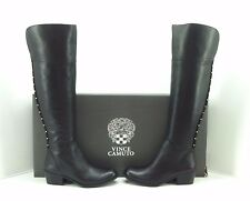 """Vince Camuto """"Briella"""" Black Leather/Kid Suede Over The Knee Boots. Size 9 M."""