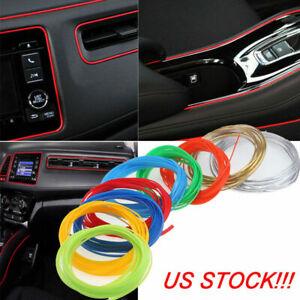 5M Flexible Trim Moulding Strip Decorative Line Car Interior Exterior Multicolor