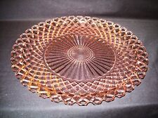 Vtg Pink Depession Glass Hocking Glass Waterford Sandwich Plate Waffle
