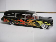 Hot Wheels 100% 1963 Cadillac Fleetwood Hearse Black VooDoo w/ Real Rider Tires