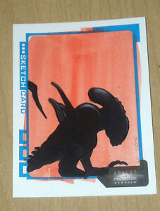 2007 Inkworks Aliens/Predator Requiem sketch art card Ingrid Hardy 1/1 38/193