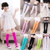 Kids Girls Long Tube Socks Child Thigh High Stockings Student Over Knee Hosiery