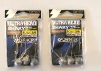 Owner Ultra Head Shaky Type Lot - 5/0 1/2 oz  (3 Per Pack) LOT- 2 Packs - 6 Qty.
