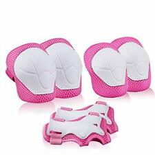 A-code Kids Sports Safety Protective Gear Set, Youth Knee Pads Elbow (Pink)