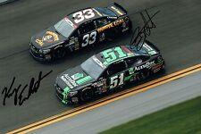 Kerry EARNHARDT & Bobby LABONTE SIGNED NASCAR Autograph 12x8 Photo AFTAL COA