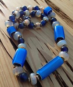 2nd Generation Nueva Cadiz African Trade Beads necklace creek carver studio