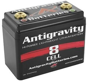 Antigravity Batteries 8 Cell Small Case Lithium-Ion Motorcycle Batteries AG-801