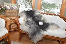 """Gray Gotland Sheepskin Throw,Rug,Couch Throw,Chair Cushion,Bath Mat 48X34"""" G24"""