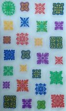 NIP Auntie's Hawaiian Stickers 27 Colorful Hawaiian Traditional Quilt Patterns