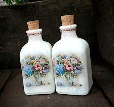 Perfume bottles 100 ml, shabby chic bathroom, cork top, handmade, vintage