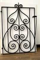 Beautiful Vintage 1930's Black Iron Garden Gate Local Pickup Only