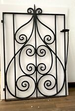 Beautiful 00006000  Vintage 1930's Black Iron Garden Gate Local Pickup Only