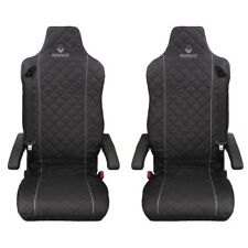 Renault T ,Renaul C Truck Seat Covers GREY piping 2 piece (1+1)