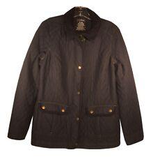 L.L. BEAN Coat Blue Corduroy Misses Regular Quilted Coat Jacket size Metal Snaps