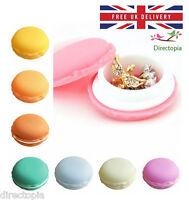 Macaron Macaroon Treat Trinket Pill Box Jewellery Ring Kawaii Various Colours UK