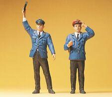 Preiser G 45000 - 1:22,5 Aufsichtsbeamter + Schaffner   Neuware
