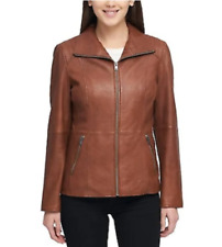 NEW!!! Marc New York Andrew Marc Ladies' Leather Jacket in Cognac, Sz: Large