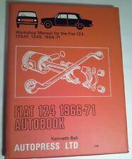 WORKSHOP MANUAL FOR FIAT 124A, 124AF 1966-1971 AUTOBOOK