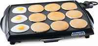 Electric Griddle Bbq Grill Indoor Barbecue Non Stick Cooker Eggs Meat Table Top