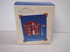 2003 Hallmark Keepsake Ornament: Schoolhouse and Flagpole #08247