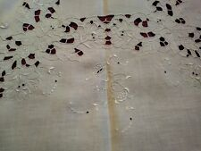 Pretty Madeira Cutwork and Embroidered 41 by 40 inch Tablecloth