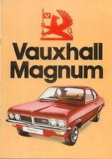 Vauxhall Magnum 1800 2300 Saloon Coupe Estate 1974-75 Original UK Brochure V2223