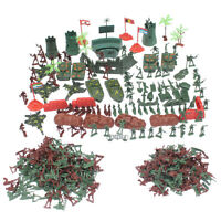 290pcs  Playset Plastic Toy 4cm Soldier Army Men Figures Kids Toys