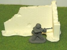1/35-1/32 SCALE SOLID RESIN RUINED WALL CORNER SECTION FOR SCENES AND DIORAMAS