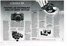 Publicité Advertising 1985 (2 pages) Appareil Photo Contax 159  par Hasselblad