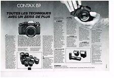 Publicité Advertising 1985 (2 pages) Appareil Photo Contax 159  par Hasselblad