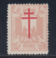 ESPAÑA (1942) NUEVO SIN FIJASELLOS MNH SPAIN - EDIFIL 957 (10 cts) - LOTE 1