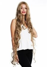 Wig Ladies Long Rapunzel Curly Wavy Middle Part Blonde Mix VK-40